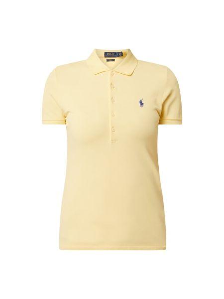 Żółty t-shirt bawełniany Polo Ralph Lauren