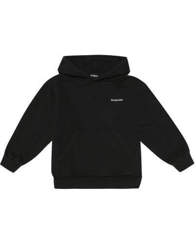 Bawełna bawełna czarny bluza z kapturem Balenciaga Kids