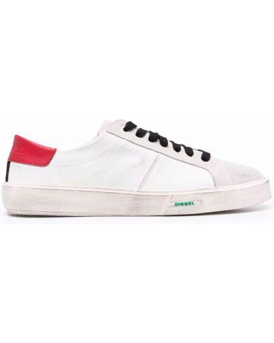 Кожаные кроссовки - белые Diesel