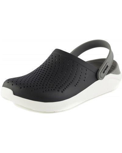 Пляжные шлепанцы черные для отдыха Crocs