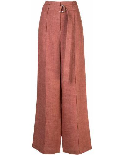 Розовые расклешенные брюки с поясом Robert Rodriguez Studio