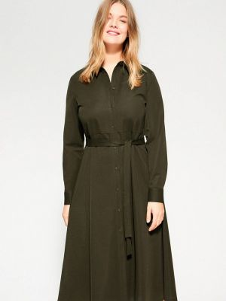 Платье прямое зеленый Violeta By Mango