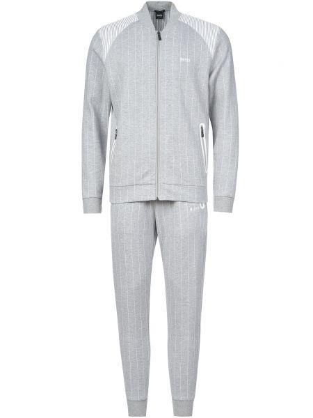 Хлопковый спортивный костюм - серый Hugo Boss