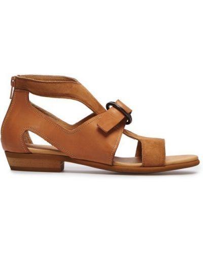 Бежевые сандалии с закрытой пяткой Mm6 Maison Margiela