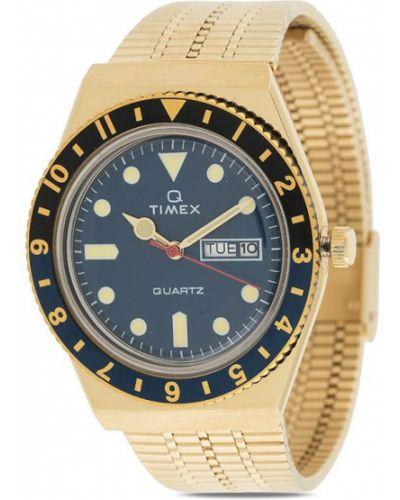 Пуховые часы золотые круглые Timex