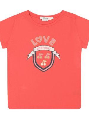 Ватная хлопковая красная рубашка круглая Bonpoint