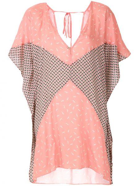 Свободное розовое платье мини свободного кроя на молнии Track & Field