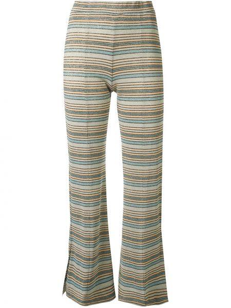 Расклешенные укороченные брюки с поясом Stine Goya