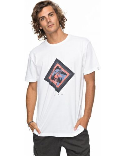 Белая футболка Quiksilver