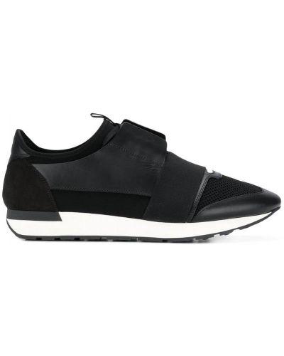 Кожаные кроссовки на шнуровке Balenciaga