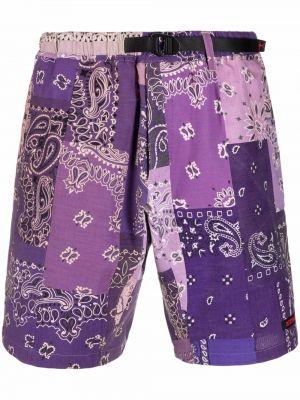 Fioletowe szorty bawełniane Readymade
