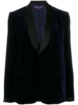 Синяя куртка с запахом с вырезом на пуговицах Ralph Lauren Collection