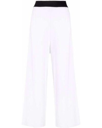 Хлопковые белые брюки с карманами Charlott