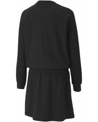 Черное платье с манжетами Puma