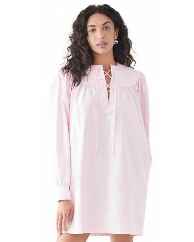 Платье с декольте - розовое Rachel Comey