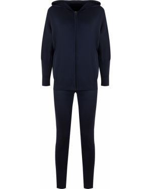 Синий спортивный костюм свободного кроя с поясом Gentryportofino