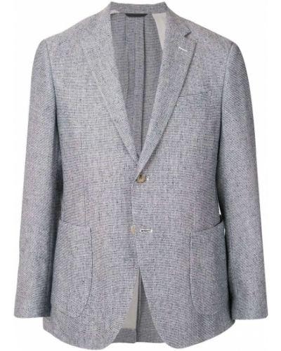 Шерстяной серый пиджак на пуговицах с лацканами D'urban
