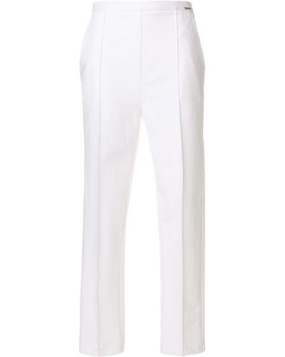 Белые брюки прямые Elisabetta Franchi