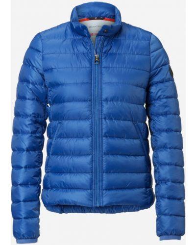 Пуховая теплая синяя стеганая куртка на молнии Marc O' Polo