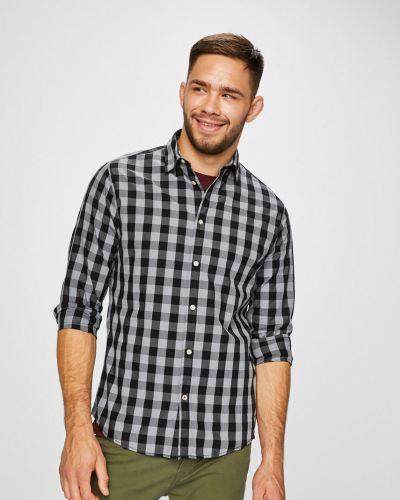 Рубашка с длинным рукавом в клетку хлопковая Jack & Jones