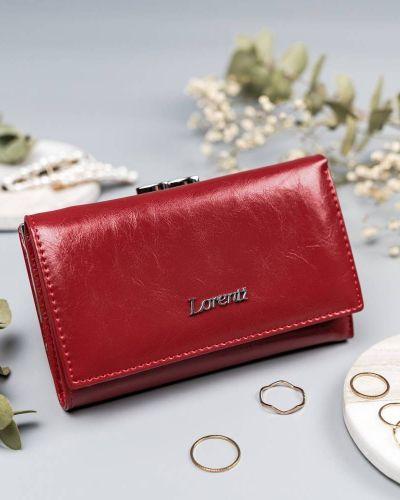 Czerwony portfel elegancki Lorenti
