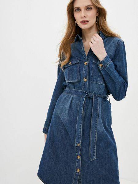 Джинсовое платье осеннее синее Softy