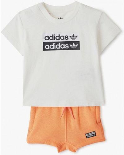 Спортивный костюм оранжевый белый Adidas