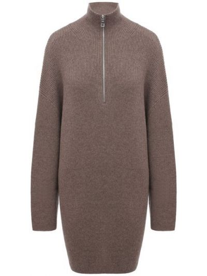 Шерстяной свитер - коричневый Not Shy