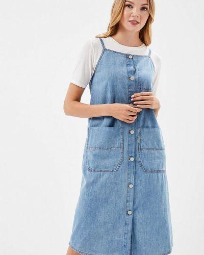 Джинсовое платье прямое весеннее Cheap Monday