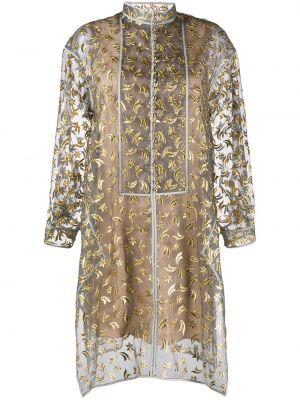 Шелковое с рукавами платье макси с подкладкой Maison Rabih Kayrouz