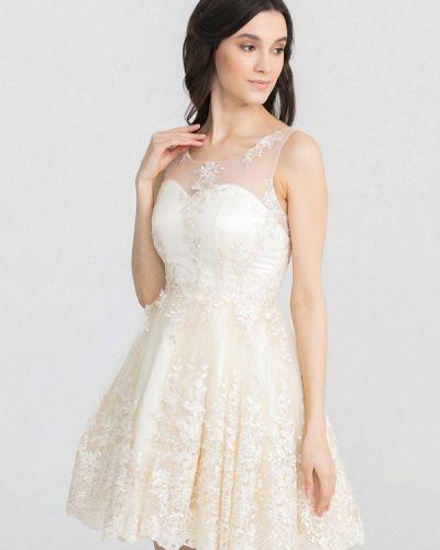 Вечернее платье бежевое X'zotic