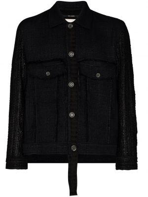 Klasyczna czarna kurtka z akrylu Song For The Mute