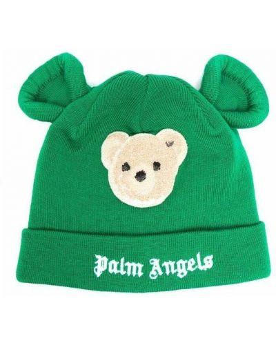 Zielona czapka Palm Angels