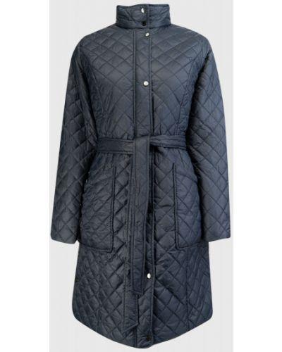 Синее пальто с воротником на молнии Ostin