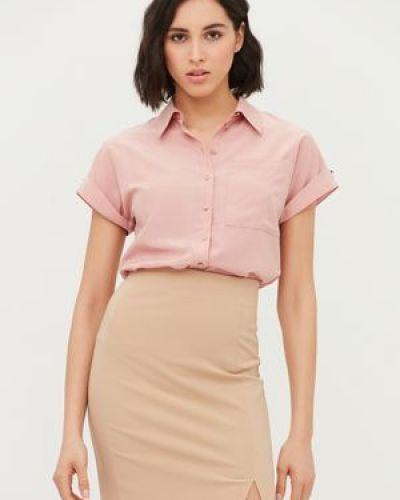 Облегающая блузка на пуговицах с карманами Love Republic