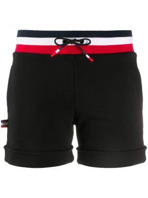 С кулиской хлопковые черные шорты с завязками Rossignol