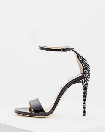 Босоножки черные на каблуке Nando Muzi