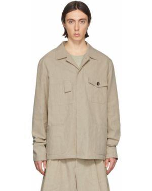 Длинная куртка льняная скромный Maison Margiela