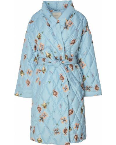 Пальто с поясом - голубое Akhmadullina Dreams