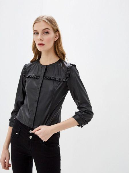Кожаная куртка черная весенняя Liu Jo