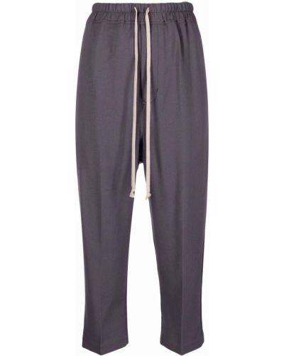Spodnie z wysokim stanem - fioletowe Rick Owens