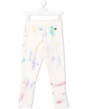 Sportowe spodnie z kieszeniami białe Stella Mccartney Kids