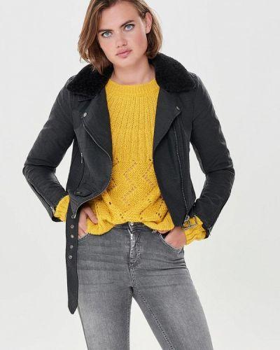 Кожаная куртка осенняя демисезонная Only