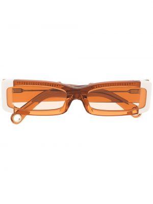 Pomarańczowe okulary z printem skorzane Jacquemus