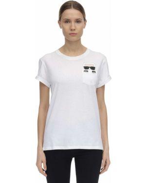 Рубашка с воротником-стойкой Karl Lagerfeld
