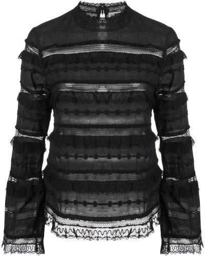 Блузка черная с рукавом-колоколом Ulla Johnson