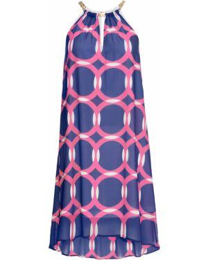 Платье мини с американской проймой шифоновое Bonprix