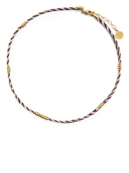 Fioletowy złoty naszyjnik pozłacany Gas Bijoux