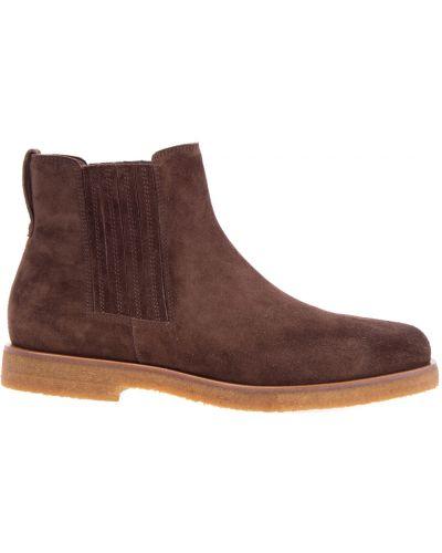 Ботинки челси кожаные замшевые Brunello Cucinelli