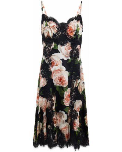 Кружевное платье - черное Dolce & Gabbana